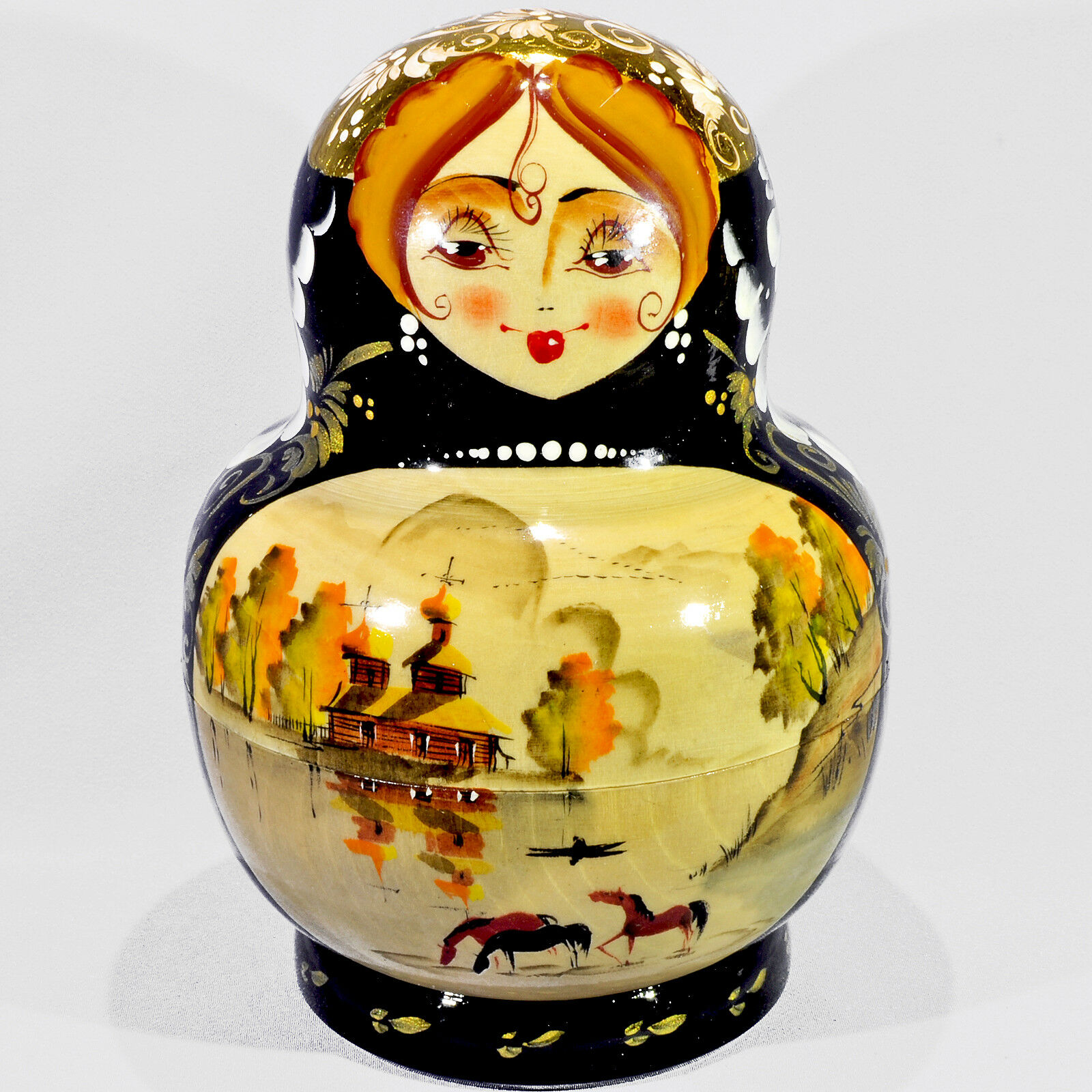 10 Teile Set Authentische Russische Puppen mit Miniaturen 10PCS