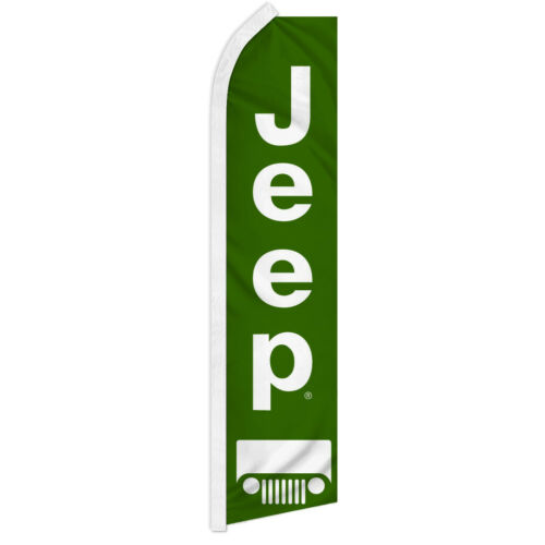 Jeep Swooper Flutter Feather Advertising Flag Car Dealership Jeep Flag