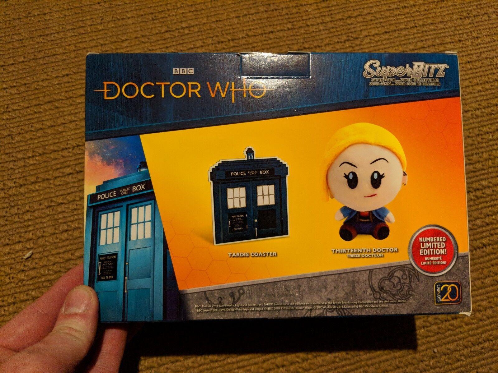 SDCC 2018 Exclusive Superbitz Thirteenth Thirteenth Thirteenth Doctor & Coaster Dr Who 13th Dr LE 5500 0a4e81