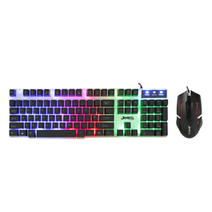 gaming keyboard and mouse set rainbow led wired usb for pc ps4 xbox one and 360 6933048526246 ebay. Black Bedroom Furniture Sets. Home Design Ideas