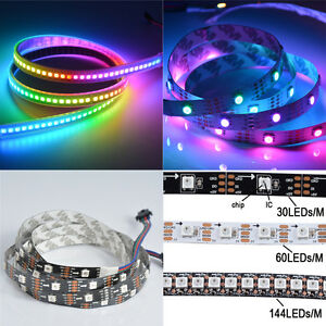 5m Addressable 60LED//m RGB Light Strip 5V WS2812B WS2812 IP68 Waterproof Color