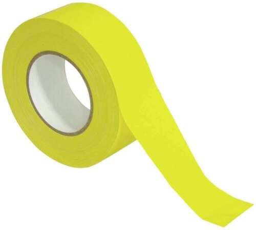 0,20€//m Gewebeband PRO GELB yellow ge 50m x 50mm Steinband Stagetape Gaffa-Tape