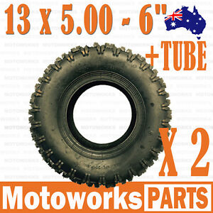 Motoworks 13 X 5.00 - Pair of 6 inch Tyre with Tube