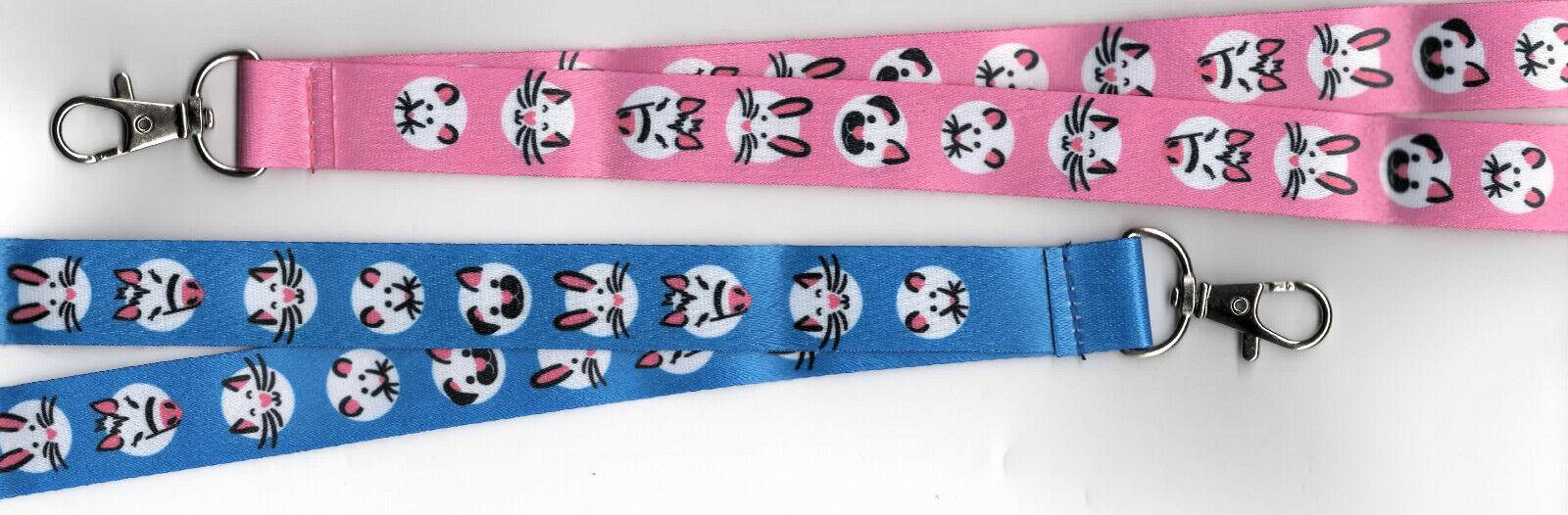 1 CUTE & CUDDLY Pets Animals Breakaway Safety Lanyard Pink or Blue: FREE UK P&P
