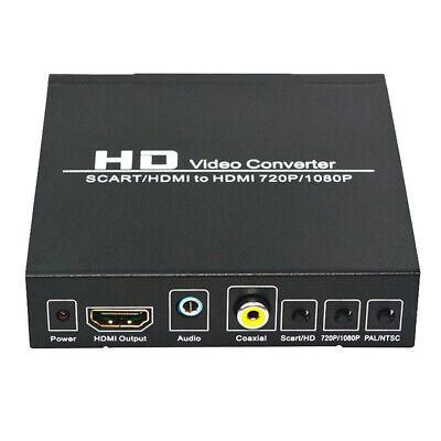 1 Stk.SCART zu HDMI Converter Upscaler Unterstützung HDMI Connector Output Metal