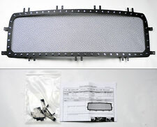 GMC Sierra 1500 14-16 Black Wire Mesh Rivet Stud Grill Insert w/ Instructions