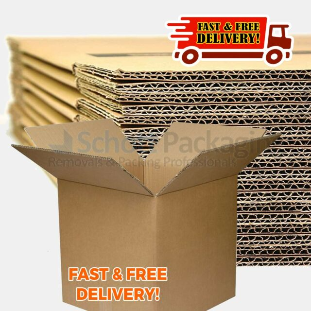 5 x 12x12x12 DOUBLE WALL CARDBOARD REMOVAL PACKING STORAGE BOXES *OFFER* Material Handling Packing & Shipping