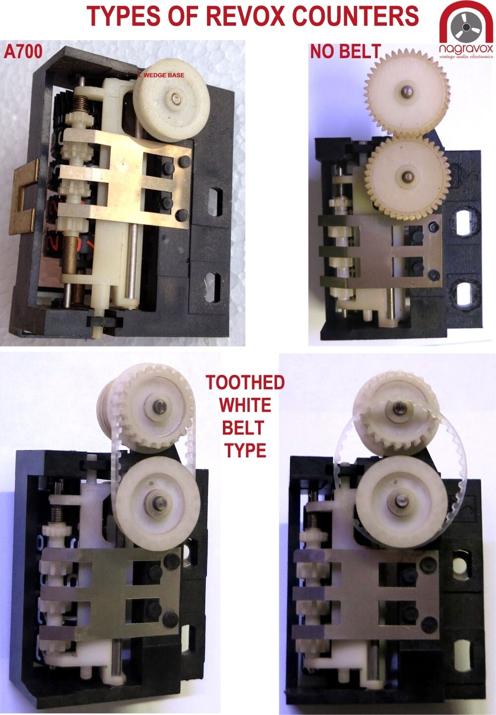 Revox Replacement Belt A77 B77 PR99 Mk1 G36 Series II III Reel Counter