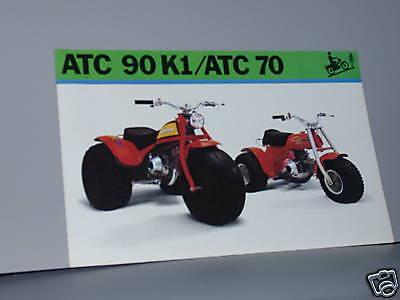 POSTER Literature 1973 Honda ATC90 K1 ATC70 Sales Brochure