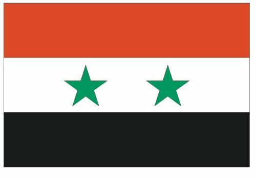 SYRIA Vinyl International Flag DECAL Sticker MADE IN THE USA F488