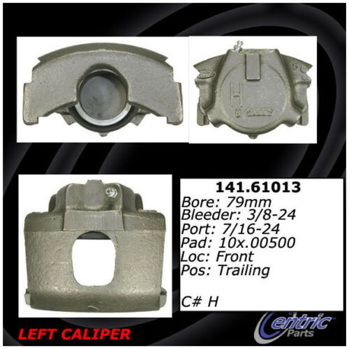 Disc Brake Caliper-Premium Semi-Loaded Caliper Front Right Centric Reman
