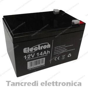 batteria ricaricabile piombo 12 volt 14ah per scooter elettrici ebay. Black Bedroom Furniture Sets. Home Design Ideas