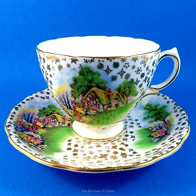 Lovely Colclough Scenic Cottage Garden Tea Cup and Saucer Set