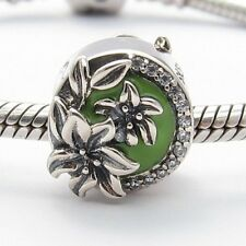 SUMMER FLOWERS CHARM Bead Sterling Silver.925 for European Bracelet 486