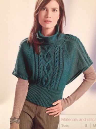 S,M,L,XL Knitting Pattern Ladies Knitted Batwing Sweater