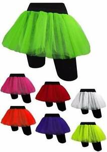80's Adult Dress Up Neon Double Layer Fishnet Tutu Tu Tu Party Fancy Dress