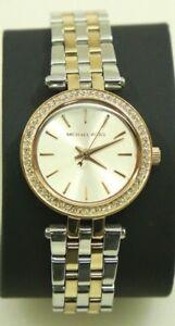 20306d3149e1 Michael Kors Women s Darci Two-Tone Petite Stainless Steel Watch ...