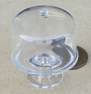 1-12-Scale-Raised-3-2cm-Plastic-Cake-Stand-With-A-Cover-Tumdee-Dolls-House-G20Lp