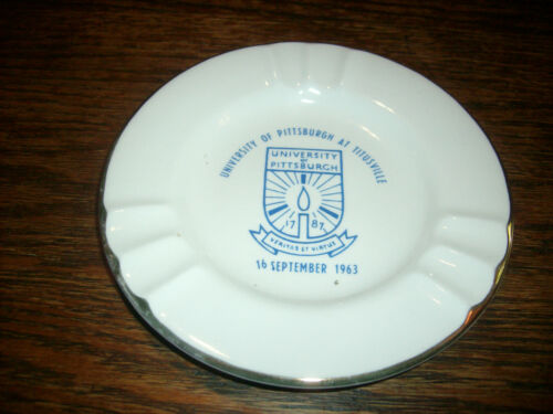 1963 University Pittsburgh Titusville Sabina Line Plate 22 Karat Gold Made USA