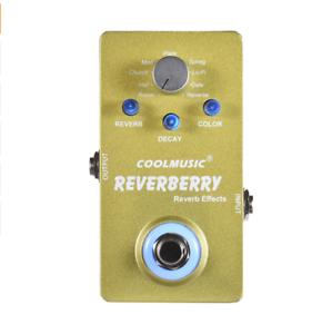 ???? Coolmusic Reverberry Guitare Électrique Pédale/pédale Stompbox-reverb Effets ❗ Sale ❗-afficher Le Titre D'origine Sensation Confortable