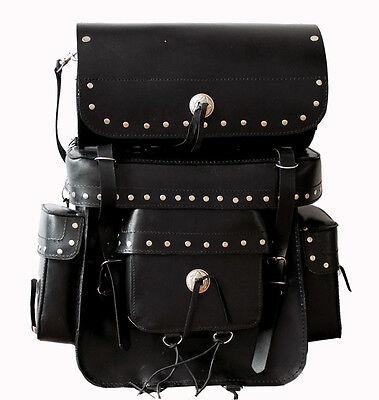 Reise Tasche Sissy Bar Chopper Motorrad Gepäckset Leder Satteltasche sissybar