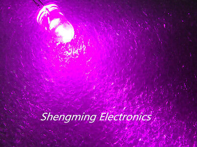100pcs 5mm Round Pink LED water clear