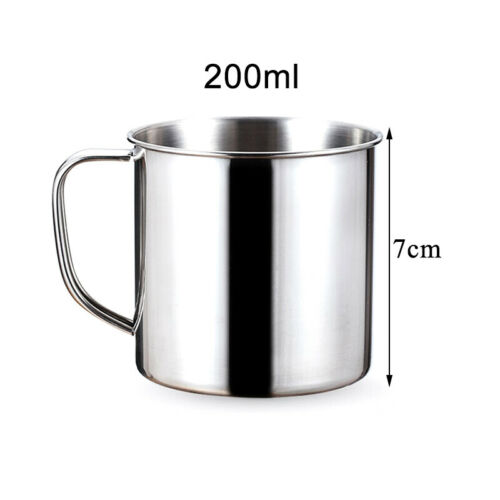 Stainless Steel Water Milk Coffee Cup Mug Home Beverage Travel Camping Picnic