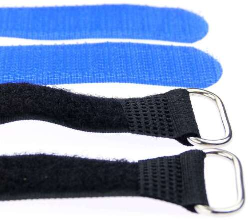 30 Klettbänder Kabelklett 300 x 20mm blau Kabel Klett Band Kabelbinder Klettband