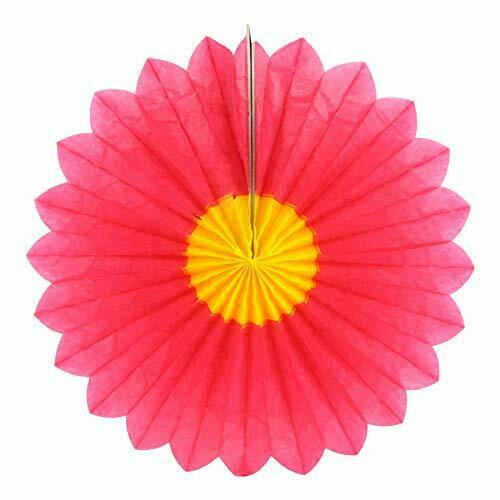 Gisela Graham Pink Paper Honeycomb Flower Party Decoration