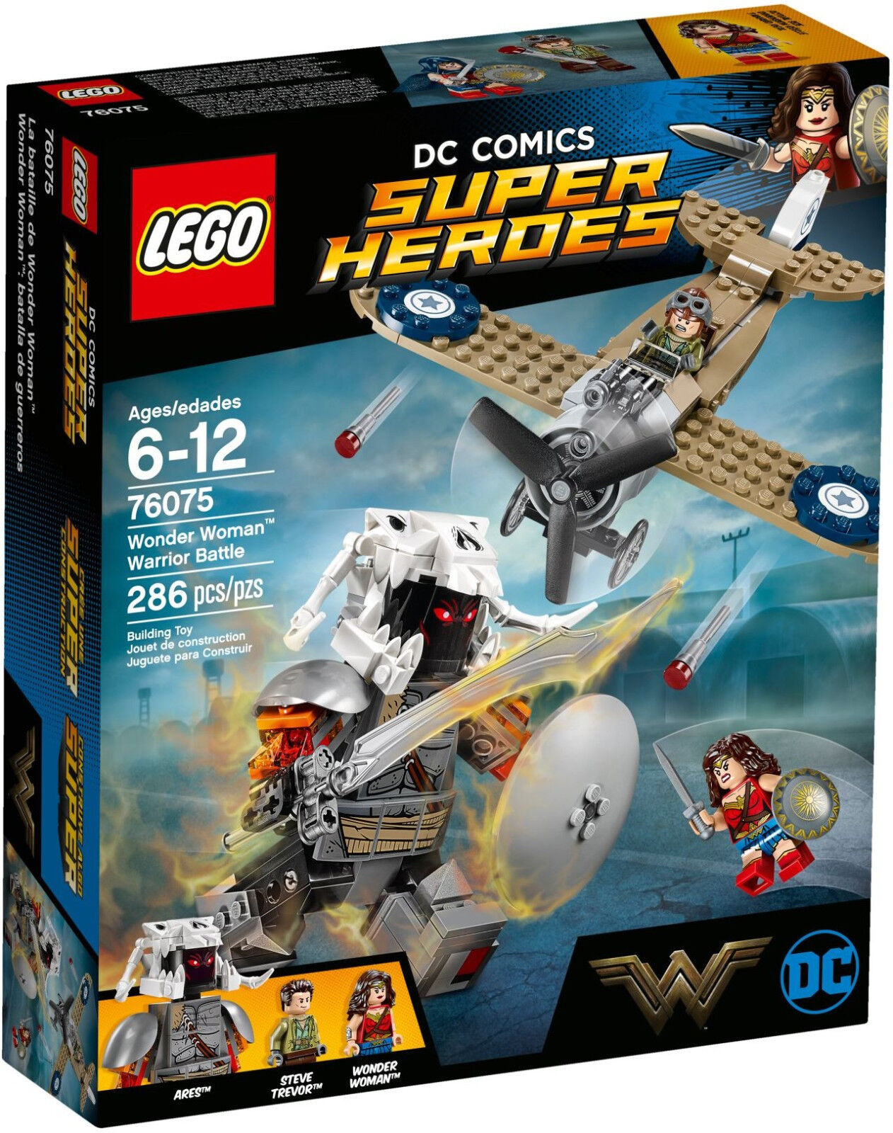 LEGO DC Super Heroes - 76075 Wonder Woman Warrior Battle con Steve-NUOVO & OVP