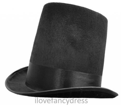 NERO Feltro Stovepipe Cappello Vittoriano Costume Formale Accessorio Costume