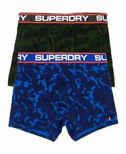 quality design 314e6 f7cf5 Details zu Superdry Sport Boxer Shorts Underwear Double Pack Blue Tone  Camo/Forest Camo
