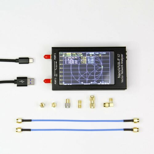"""4,3 /""""50 kHz-3 GHz NanoVNA-F V2 VNA 3G-Vektor-Netzwerkantennenanalysator UHF HF V"""