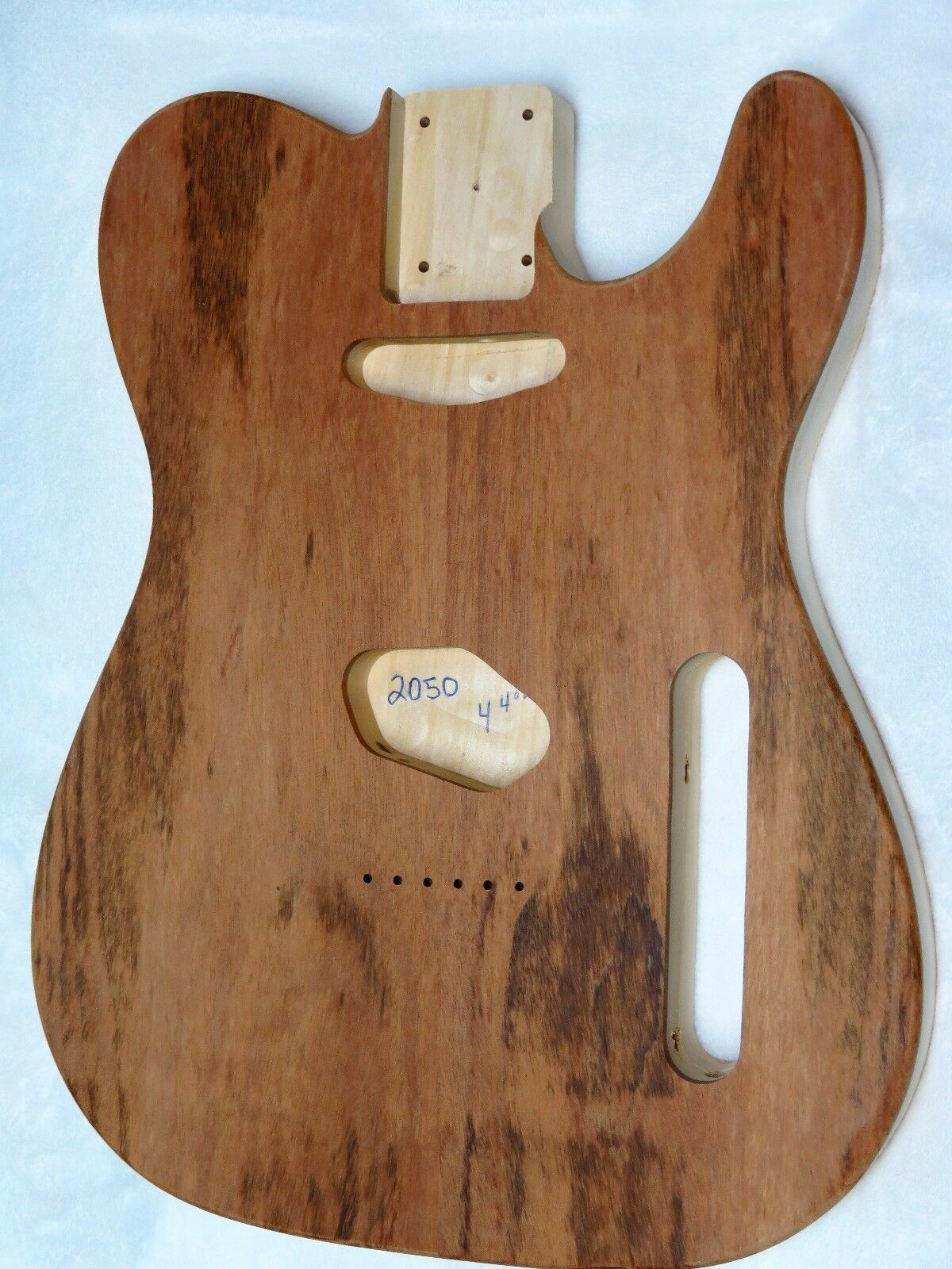 Tigerwood Maple   Basswood Telecaster Tele Body 4lbs 4oz