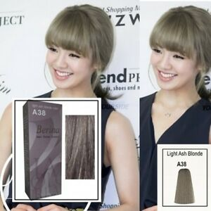 Hair Dye Style Berina A38 Light Ash Blonde Color Hair Permanent Color Cream Hair .