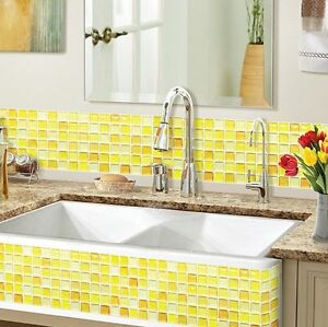 Home Bathroom Kitchen Wall Decor 3d Sticker Wallpaper Tile Y Blossom