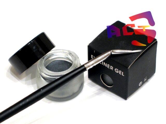 Long Lasting Waterproof Silver Grey Gel Eyeliner & Eye Liner Brush