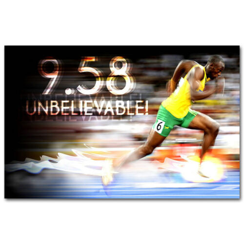 Usain Bolt The World/'s Fastest Man Jamaica Champion Runner Poster 13x20inch