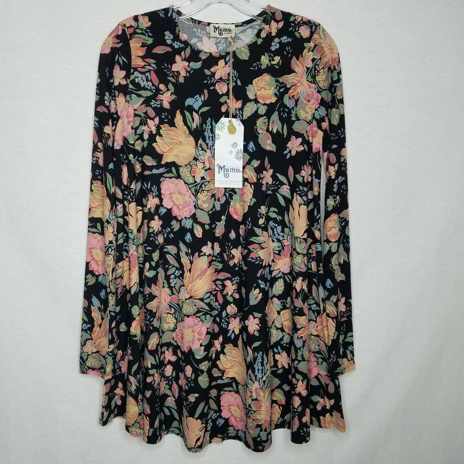Show Me Your Mumu NEW NWT Tyler Tunic Dress Floral Long Sleeve Größe XS Q107P