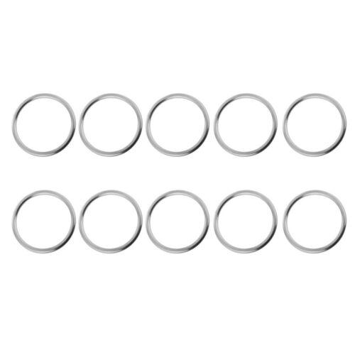 10pcs 3 x 25mm Stainless Steel Round O Ring - Marine Webbing Rigging Mooring