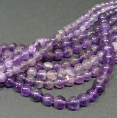 LOT 30 PERLE PIERRE NATURELLE ROND INDE 3m AMETHYSTE NATURAL AMETHYST STONE BEAD