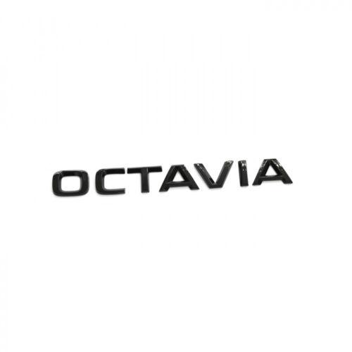 Original Skoda Octavia Schriftzug schwarz Heckklappe Emblem Buchstaben Blackline