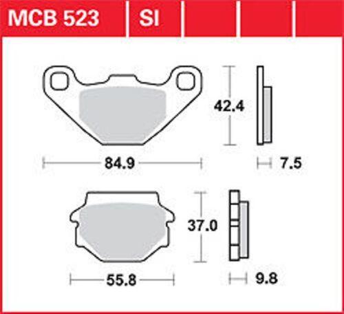 Brake Pads Set front KR Bremsbeläge Satz vorne MCB 523 ADLY//HERCHEE NEU ..