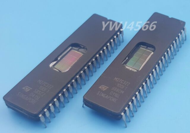 10PCS M27C322-100F1 IC EPROM UV 32MBIT 100NS 42CDIP