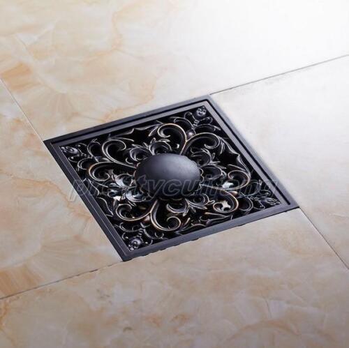 Black Oil Rubbed Brass Bathroom Floor Drain Waste Grate Shower Drainer Phr030