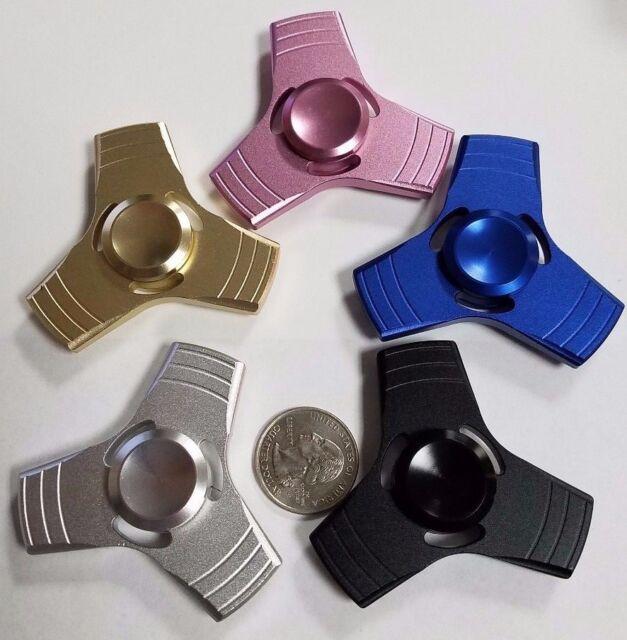 ALUMINUM MINI HAND SPINNER FIDGET METAL DESK TOY 3 MIN SPIN STOCKING STUFFER