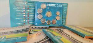Coffret BU Euros Slovaquie 2021 - 8 pièces + Médaille UEFA Euro 2020