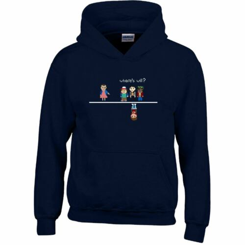 WHERES WILL Kids Hoody 8 Bit Pixel Elle Eleven Boys Girls Top Boys Gift Hoodie