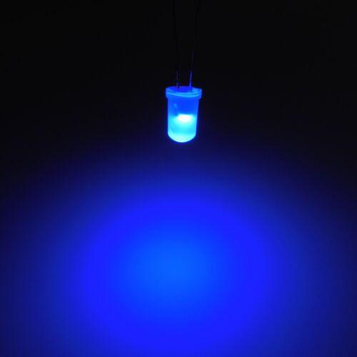 Blu 5mm diffusa che emette luce LED Diodo Emettitore Round Top Lampada gambe lunghe