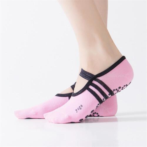 1 pair Women Ballet Grip Yoga Sock Massage Ankle Pilates Antislip Gym 2019